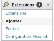 installer un plugin wordpress, installer plugins wordpress