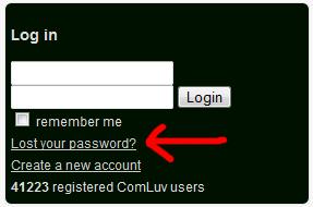 Comment récupérer son mot de passe CommentLuv
