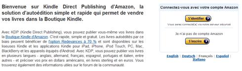 amazon kdp, amazon kindle, publier livre sur kindle, publier ebook sur kindle