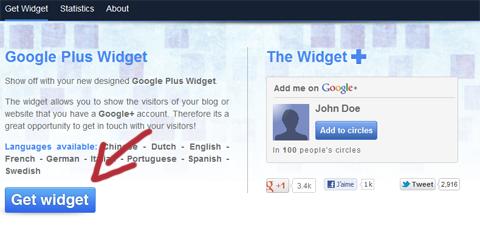 widget plus, google plus