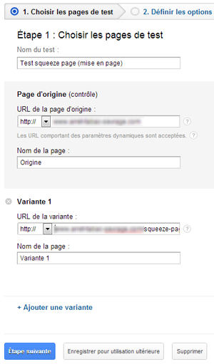split test, test a/b, squeeze page, google analytics