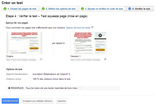 split test, squeeze page, google analytics, test a/b