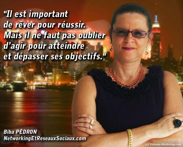 Biba Pédron, networking et réseaux sociaux