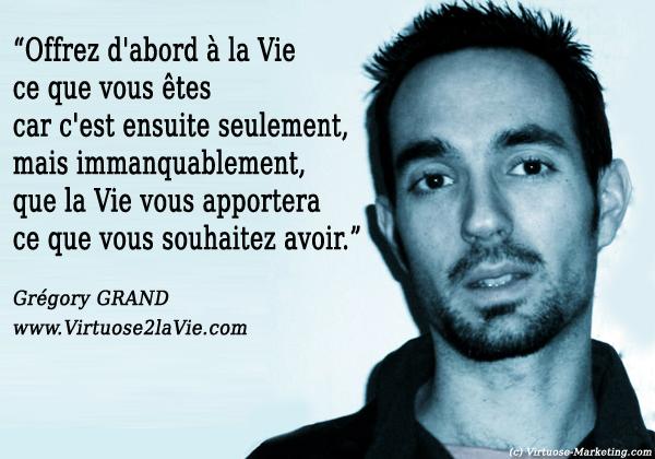 Grégory Grand, Virtuose 2 la vie, citations de blogueurs