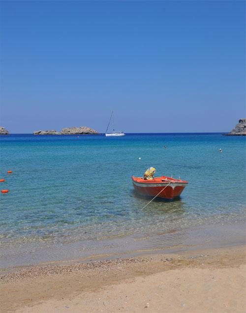 la plage de Lindos